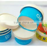 Good seller Disposable And doulbe PE Colourful ice cream Paper Cup with lid For Cold Drinking from China