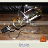 Single animal bottle metal swirl wine holder