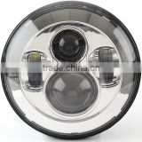 Sunshiny 7 inch round halo headlights led LED sealed beam high/low Halo Ring for jeep headlight