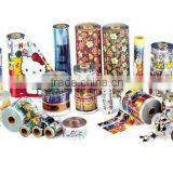 Colorful transparent PVC PRINTED FILM for bottle packaging