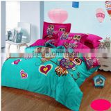 Nantong supplier owl bedding set , 3d bedding sets comforter/duvet/quilt cover bed sheet