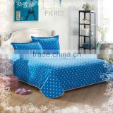 Blue cotton wholesale embroidered indian bedspreads turkey cheap hotel bedspreads with elastic wholesale