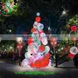 3D tree ball lights 3d deco large outdoor garden plaza decoration