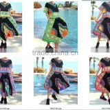 Dashiki Shirts Skirts MUSIC FESTIVAL AFRICAN PRINT HIPPIE BOHO BABY DOLL maxi Shirt and Skirt set of 2pcs