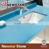 Newstar prefab sky blue quartz countertops