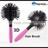 New 360 degree 3D Hair Brush Ball Style Blow Drying Detangling Salon Comb Mark Hill Wonder