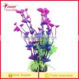 2017 hot sell Fish Tank Aquarium Artificial Aquatic Flower Plant purple Grass Decoration