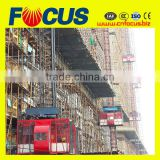 Tall building used double cage construction hoist