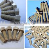 Plastic injection parts PEEK round head bolt