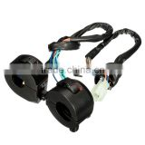 Motorcycle PVC Waterproof Weatherproof 7/8 Diameter Handlebar Horn Turn Signal Headlight Electrical Start Switch 12V Black