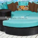 2017 Trade Assurance Hot Sale outdoor round sectional rattan handmade sun chaise sofa daybed