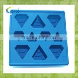 2014 Hot Sell Latest Lfgb Approved Cute Cake Shape Silicone Ice Cube Tray/disney Audit Factory