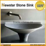 Natural stone sink round design