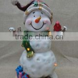 New design resin Christmas snowman ornament wholesale