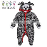 Adult Baby Girl Clothing Lovely Dogs Baby Rompwer Winter Animal Hooded Newborn Jumpsuit