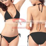 sale cheap solid candy color spandex sexy two piece string bikini