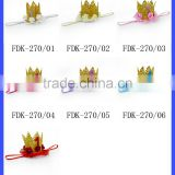 Wholesale Remake Props Knitting Golden Tiara Thin Elastic For Baby Girl Princess Crown Headband Accessories