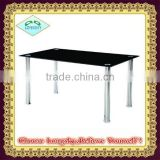 black cheaper tempered glass dining set glass dining table
