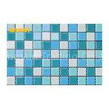 Square Glitter Hotels / Bars Crystal Glass Mosaic Tiles With Cleaning Easliy