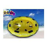 2.5M Round Yellow Family Inflatable River Rafts , 4 / 6 Person Inflatable Party Rafts