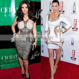 kim kardashian elegant long sleeve evening gowns dresses short