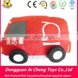 CE testing Factory directly custom plush bus toy Lovely bus plush toy OEM