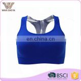 Dry quickly special design back breathable sports bra oem