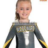 Customized printing youth uniform open neck X back cheerleading uniform top