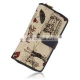 Retro Zipper and Drawing Design Women's Wallet