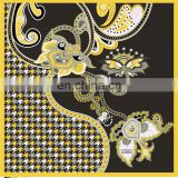 2015 fashion plush100% silk scarf