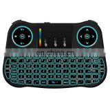 Free sample,MT08 2.4GHz Mini Wireless Air Mouse QWERTY Keyboard with Colorful Backlight & Touchpad & Multimedia Control for PC,