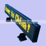 LED moving sign display for car use/taxi ,programme advertising Panel