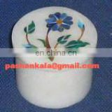 Round Marble Inlay Gift Box, Round Marble Inlay Jewelry Boxes