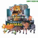 Jungle Animal Figures Toddler Toy Set Realistic Wild Plastic Animal Play set