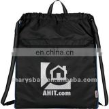 cinch bag with mesh air pocket for ventilation