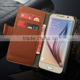 wallet style For Samsung Galaxy S6 Case, Flip Leather Case Cover for Samsung Galaxy S6