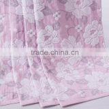 China supplier hot sale 100% cotton beautiful flowers pattern jacquard hotel towel blanket