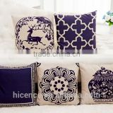 Cotton Linen Decorative Throw Pillow Case Plain Cushion Cover chinese style