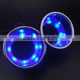 Blue 8X LED Stainless Steel Glass and Cup Drink Holder Marine Boat Car Truck Camper