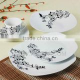 dinnerware with wintersweet printing