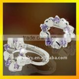 hot sell 925 cheap silver earrings with CZ paypal acceptable sterling silver hook earring