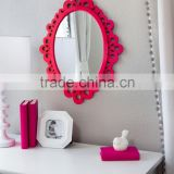 Oval Wall Mirror - Highly Decorative Wall Accessories - Use it for Bedroom and Bathroom Wall, or as a Princess Mirror for Girl's
