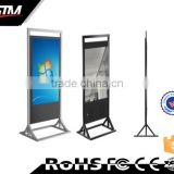 Customized multi touch lcd digital screen stand signage totem electronic data system video display
