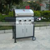 CSA & CE approved 4 burner bbq with cast iron burner and gas valve