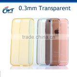 Wholesale from mould factory ultra slim tpu transparent mobile phone cover for iphone6 case