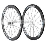 Carbon Light Aero Wheels Road Bike wheelset clincher 50mm for Sale