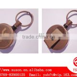 bronze plating metal retractable key chains with carving logo