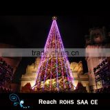 christmas decoration supplies 2016 new design christmas tree led pink lights tree with colorful christmas ball ornaments wedding