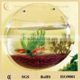 Fashion design customized size round wall-mounted acrylic fish tank
