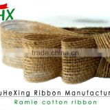 china burlap ribbon wholesale for packaging